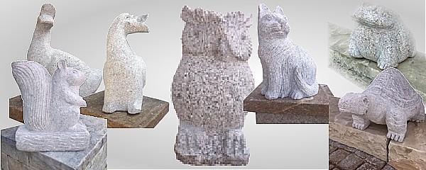 Sculture di animali in pietra for Animali da giardino finti