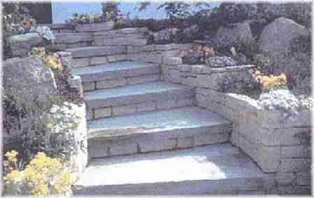 Costruire scala pietra giardino gradini in pietra scale scalini in pietra costruire una scala - Scale da giardino ...
