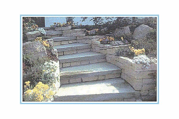 Pavimento in pietra - Scala da giardino ...