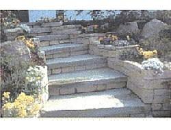 Scale in pietra da esterno fioriera con grigliato plastica - Scale per esterni in pietra ...