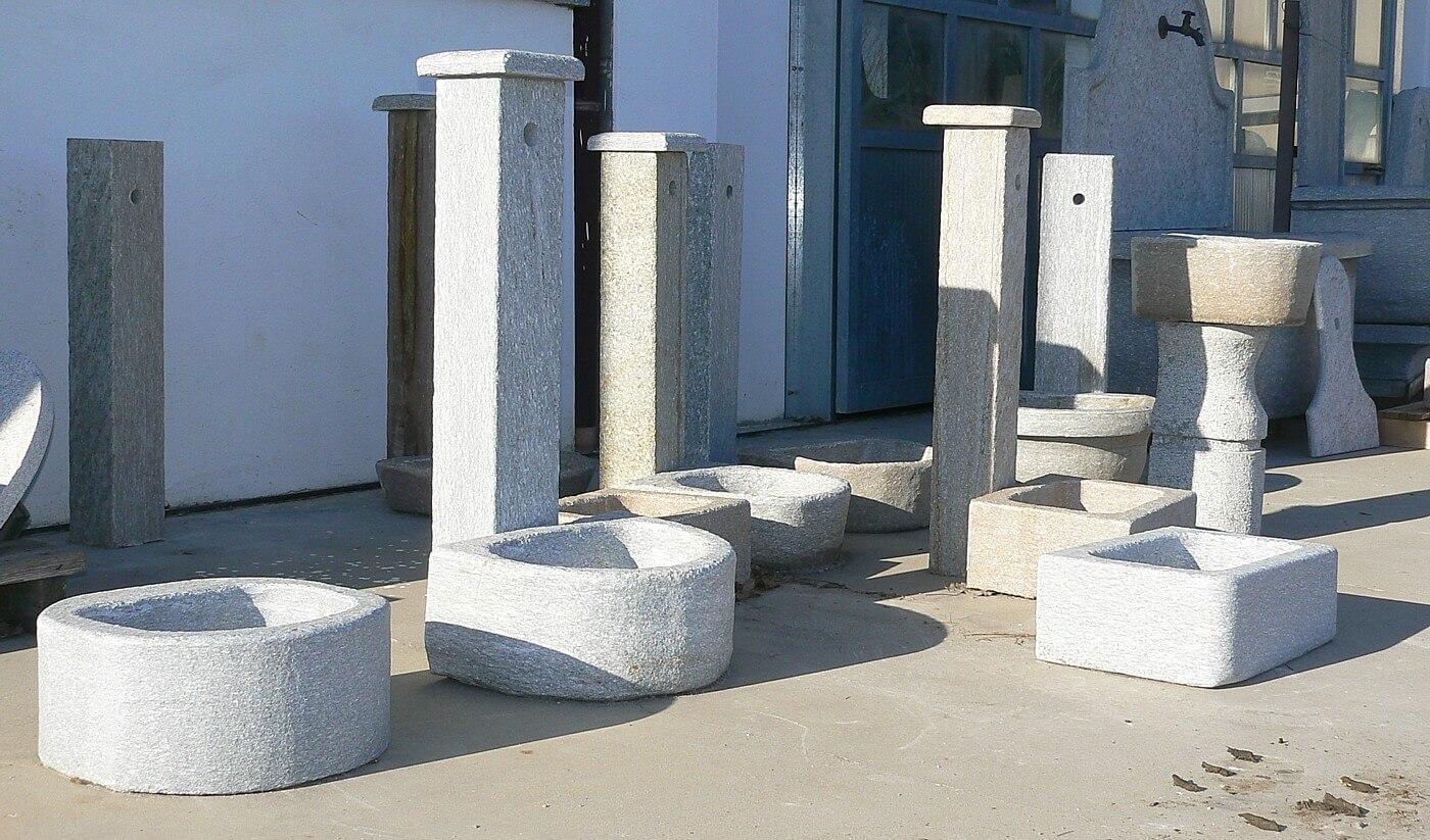 Vasche In Pietra Per Fontane fontane in pietra da giardino